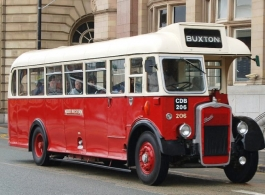 Vintage Red bus for weddings in Barnstaple